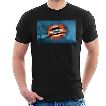 Back to the Future Delorean Cinematic Take Off Men's T-Shirt