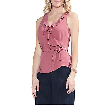 1.State | Wrap Front Ruffle Neck Blouse