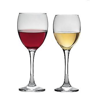 Vajilla de argón Gafas de Vino Rojo y Blanco - Set de 12 Piezas - 340ml / 245ml