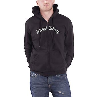 Angel Witch Hoodie Baphomet Band Logo nuovo Ufficiale Mens Nero zipped