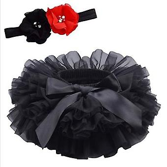 Baby Tulle Tutu Bloomers- Infant Newborn Diapers Cover, 2pcs Short Skirts /