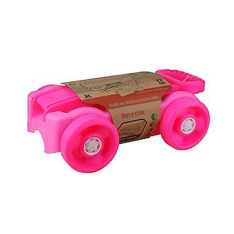 Enviro Plastic Pull Along Pink Wagon with 22pc Blocks