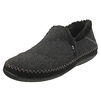 Toms India Womens Slippers Shoes in Dark Grey