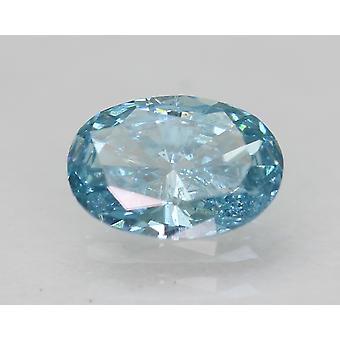 Cert 0.36 Carat Sky Blue VS1 Ovale Amélioré Natural Loose Diamond 5.99x4.18mm 2VG