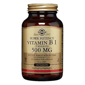 Solgar Vitamin B1 (Thiamin), 500 mg, 100 Tabs