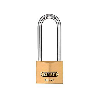 ABUS 85/40mm Brass Padlock 63mm Long Shackle Carded ABU8540LSC