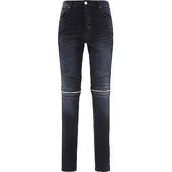 Amiri W0m01517sdantiqueblack Men's Black Cotton Jeans