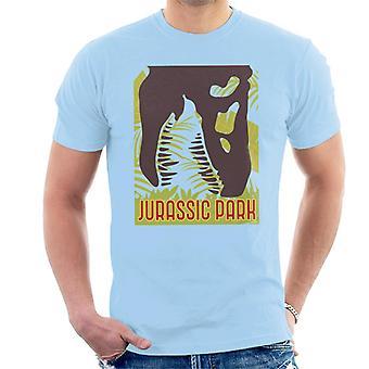 Jurassic Park T Rex luuranko siluetti syöminen men's t-paita