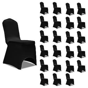 Stretch Chair Hussen Black 24 pcs.
