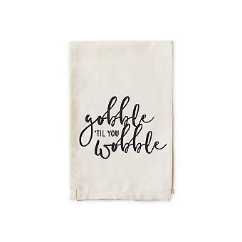 Gobble Til You Wobble-cotton Muslin Napkins