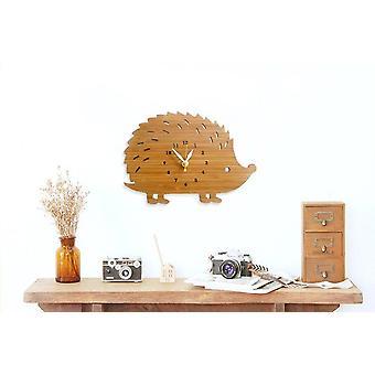 Creative Modern Bamboo Hedgehog Wall Clock