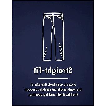 Merkki - Goodthreads Men's Straight-Fit Ryppytön Comfort Stretch Mekko Chino Pant, Navy, 35W x 30L