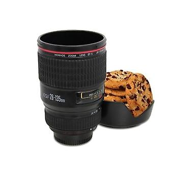 Camera Lens With Biscuit Holder Model 24-105mm Coffee Water Tea Stainless Cup Mug