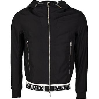 Armani Taped Hem Logo Jacket