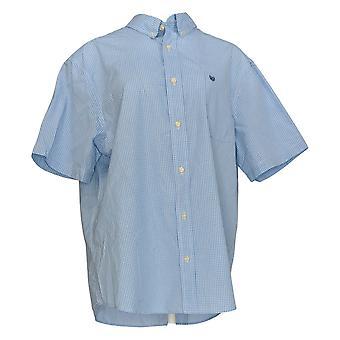 Chaps Men's Button-Front Shirt Slim-Fit Easy-Care Blue