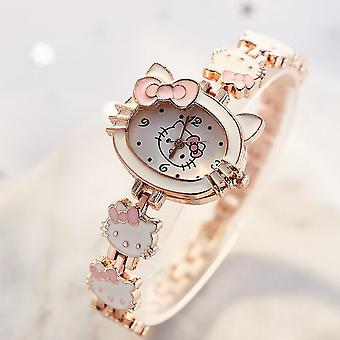 Kids Watches Hello Kitty Women Clock's Cute Cartoon