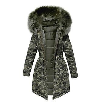 Bársony vastag farmer kabát, női téli nagy műszőrme gallér farmer rövid kabát