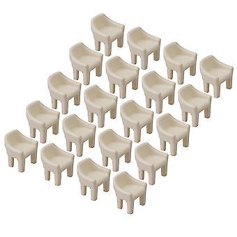 20x Skala Mini DIY Home Möbel Stuhl Modell 1/100 Szene Gebäude Beige