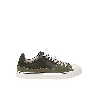 Maison Margiela S57ws0391p4022h8587 Mænd's Grønne Læder Sneakers