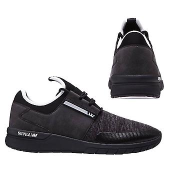 Supra Flow Run Lace Up Mens Casual Running Trainers Black Grey 08021 957 B88D