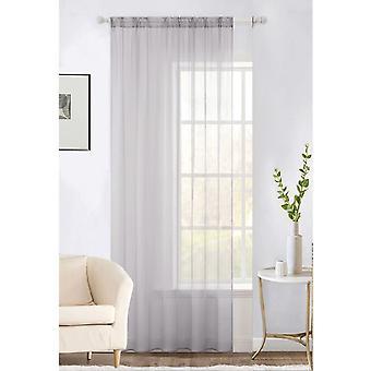 Plain Voile Curtain 1 Panel Lucy Slot Top -Verkko ja Voile Sheer Verhot