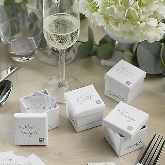 Wedding Table Games Trivia Questions Favours -4 boxes (200 questions)
