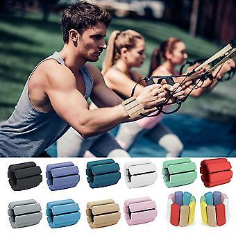 2 PCS Silicone Yoga Pilates Ważony bransoletka Trening ćwiczeń Sport opaska na nadgarstek Pasek Sand Bag Fitness Sprzęt fitness