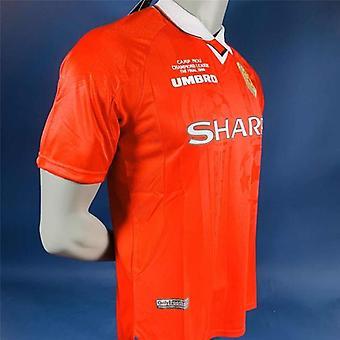 Umbro 1999 Man' Utd Retro Futbol Jersey Futbol Formaları Vintage Futbol