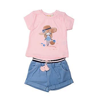Baby Globe 2dílné dívčí šaty kit dívka s letním kloboukem