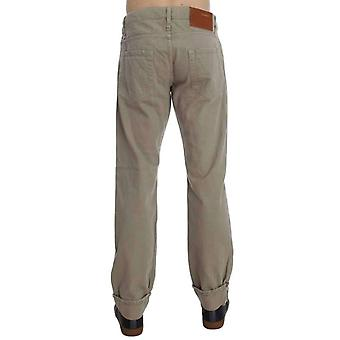Beige bomull Patchwork jeans