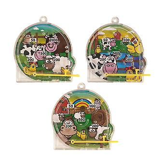 10x flipperipallo pomppii väri hauska lelu pelata Mini Puzzle Party Bag Filler Kotikoulu