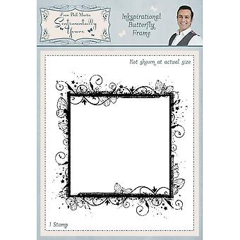 Sentimentally Yours Inkspirational Butterfly Frame Pre Cut Stamp
