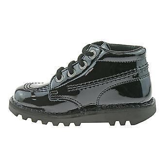 Kickers kick hi core musta patentti saappaat kf0000408bxw