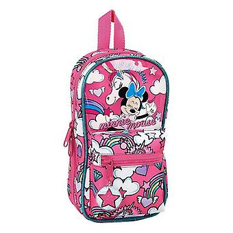 Backpack pencil case minnie mouse pink (33 pieces)