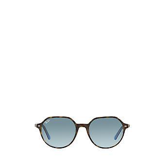 Ray-Ban RB2195 havana sugli occhiali da sole unisex azzurri