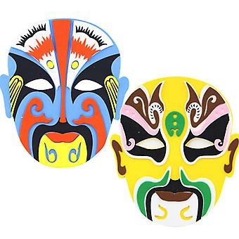 2st Eva Mask Peking Opera Chinese Quintessence Facial Makeup Paste Diy Children & cosplay masker
