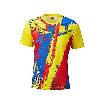 Sulkapallo T-paita, Miesten Tennispaita Quick Dry Lyhythihainen Paita