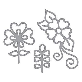 Spellbinders Die D-Lites - Dainty Florals syövytetty kuolee