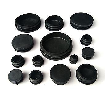 Round Plastic Black Blanking Cap