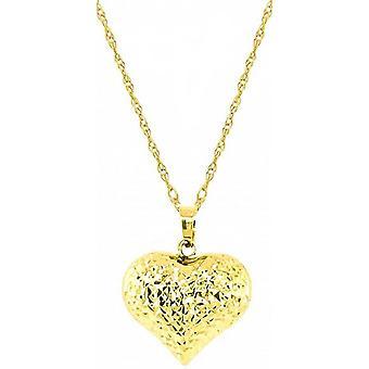 Mark Milton Textured Heart Pendant - Gold