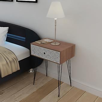 vidaXL bedside table with 1 drawer Rectangular Brown