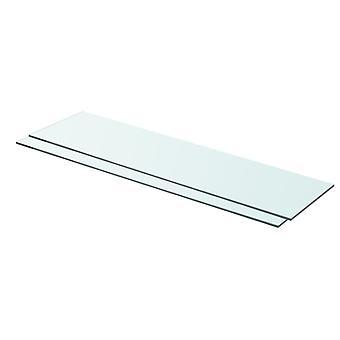 vidaXL hyllyt 2 kpl. lasi Läpinäkyvä 80 x 20 cm