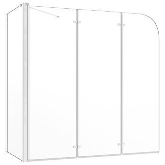vidaXL Shower separation 120x69x130 cm Tempered Glass Transparent