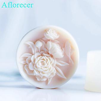 Moule à savon à la main de fleur silicone