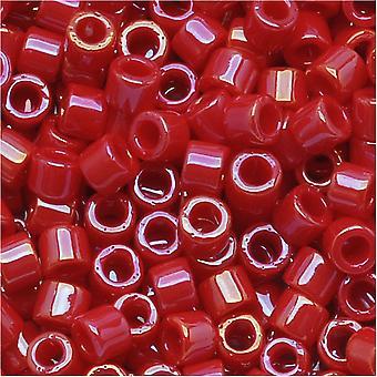 ميوكي ديليكا بذور الخرز، 10/0 الحجم، 8 غرام، معتم الأحمر بريق DBM0214