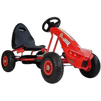 Go-Kart Rot – 115 x 63 x 59 cm – Raddurchmesser 26 cm