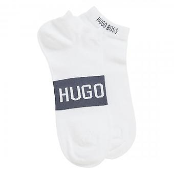 Hugo Boss 2 Pack AS Logo CC White 101 Trainer Strumpor 50428744