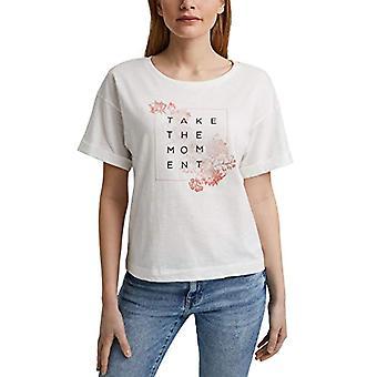 edc by Esprit 041CC1K326 T-Shirt, 110/white off, XS Woman