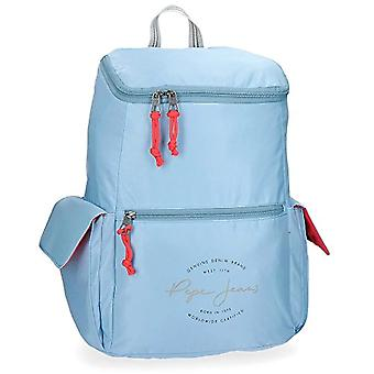 Pepe Jeans Yoga Adaptable Backpack Blue 33x44x19 cms Polyester for Pc 15.6 inches 25.92L