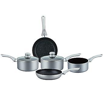 7 stycken non-stick stenbelagda köksredskap silver